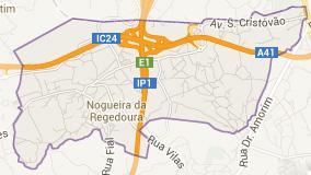 Mapa de Nogueira da Regedoura
